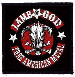 LAMB OF GOD: Pure American Metal (95x95) (felvarró)