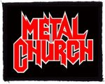 METAL CHURCH: Logo (95x75) (felvarró)