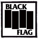 BLACK FLAG: Logo (95x95) (felvarró)
