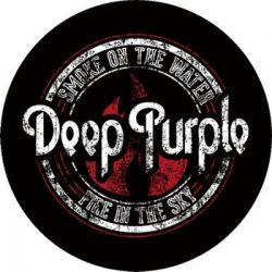 DEEP PURPLE: Smoke On The Water (circle, 95 mm) (felvarró)