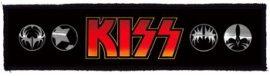 KISS: Logo Superstrip (20 x 5 cm) (felvarró)