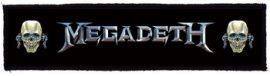 MEGADETH: Logo Vic Superstrip (20 x 5 cm) (felvarró)