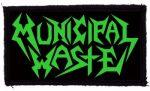 MUNICIPAL WASTE: Logo (95x60) (felvarró)