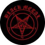 BLACK METAL (nagy jelvény, 3,7 cm)