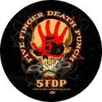 FIVE FINGER DEATH P.: Skull (nagy jelvény, 3,7 cm)