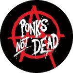 PUNKS NOT DEAD - Anarchy (nagy jelvény, 3,7 cm)