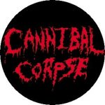 CANNIBAL CORPSE: Logo (jelvény, 2,5 cm)