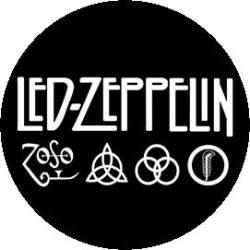 LED ZEPPELIN: 4 Symbols (jelvény, 2,5 cm)