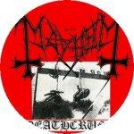 MAYHEM: Deathcrush (jelvény, 2,5 cm)
