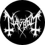 MAYHEM: Logo (jelvény, 2,5 cm)