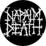 NAPALM DEATH: Logo (jelvény, 2,5 cm)