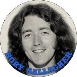 RORY GALLAGHER: Portrait (nagy jelvény, 3,7 cm)