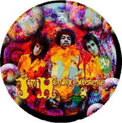 JIMI HENDRIX EXPERIENCE: Psychedelic Group (nagy jelvény, 3,7 cm)