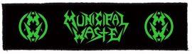 MUNICIPAL WASTE: Logo superstrip (20x5 cm) (felvarró)