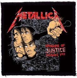 METALLICA: Hammer Of Justice (95x95) (felvarró)