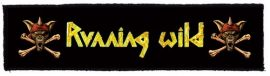 RUNNING WILD: Logo Superstrip (20 x 5 cm) (felvarró)