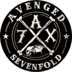 AVENGED SEVENFOLD: Bones A7X (nagy jelvény, 3,7 cm)