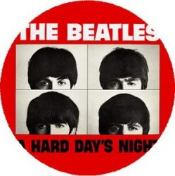 BEATLES: A Hard Day's Night (nagy jelvény, 3,7 cm)
