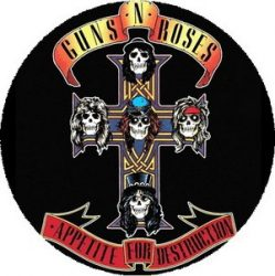 GUNS N' ROSES: Appetite For Destruction (nagy jelvény, 3,7 cm)
