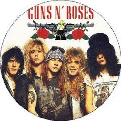 GUNS N' ROSES: Band 1988 (nagy jelvény, 3,7 cm)