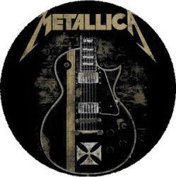 METALLICA: Guitar (nagy jelvény, 3,7 cm)