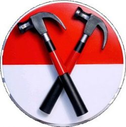 PINK FLOYD: Hammers (nagy jelvény, 3,7 cm)