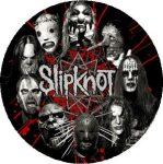 SLIPKNOT: Circle Masks (nagy jelvény, 3,7 cm)