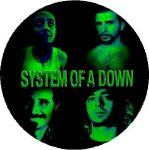 SYSTEM OF A DOWN: Band Green (nagy jelvény, 3,7 cm)