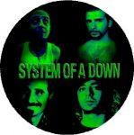 SYSTEM OF A DOWN: Band Green (nagy jelvény, 3,7 cm)