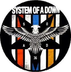 SYSTEM OF A DOWN: Eagle (nagy jelvény, 3,7 cm)