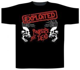 EXPLOITED: Punks Not Dead Skulls (póló)
