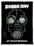 GREEN DAY: Gas Mask (70x95) (felvarró)