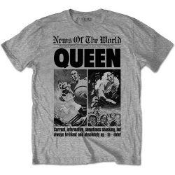 QUEEN: News Of... 40th Anniversary ((póló, szürke)