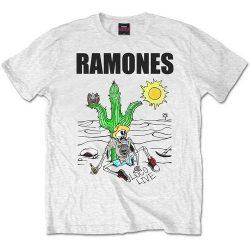 RAMONES: Loco Live (póló, fehér)