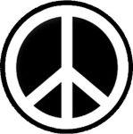 PEACE - F/F (nagy jelvény, 3,7 cm)