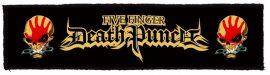 FIVE FINGER DEATH PUNCH: Logo Superstrip (20 x 5 cm) (felvarró)