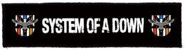 SYSTEM OF A DOWN: Logo Superstrip (20 x 5 cm) (felvarró)