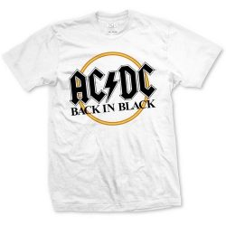 AC/DC: Back In Black (white) (póló)