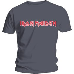 IRON MAIDEN: Logo (grey) (póló)