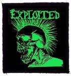 EXPLOITED: Green Skull (85x95) (felvarró)