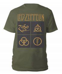 LED ZEPPELIN: Gold Symbols (póló)