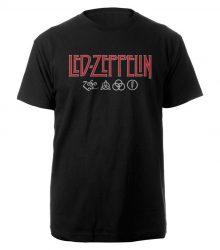 LED ZEPPELIN: Logo & Symbols (póló)