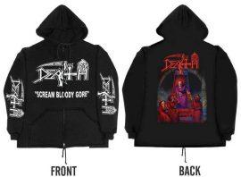 DEATH: Scream Bloody Gore (kapucnis pulóver, cipzáros)