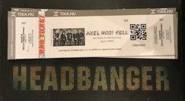 Axel Rudi Pell (2021.09.26. Barba Negra) (koncertjegy)
