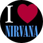 NIRVANA: I Love Nirvana (jelvény, 2,5 cm)
