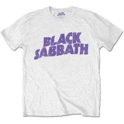 BLACK SABBATH: Wavy Logo White (kids)