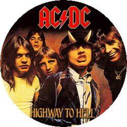 AC/DC: Highway To Hell (nagy jelvény, 3,7 cm)