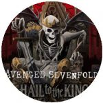 AVENGED SEVENFOLD: Hail To The King (nagy jelvény, 3,7 cm)