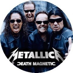 METALLICA: Band Magnetic (nagy jelvény, 3,7 cm)