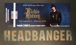 Richie Kotzen (2020.09.08. Akvárium) (koncertjegy)